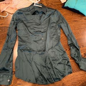 Dolce & Gabbana forest green blouse size S